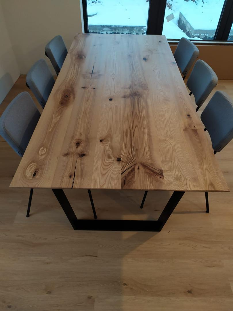 Stół z jesionowy blatem  #2