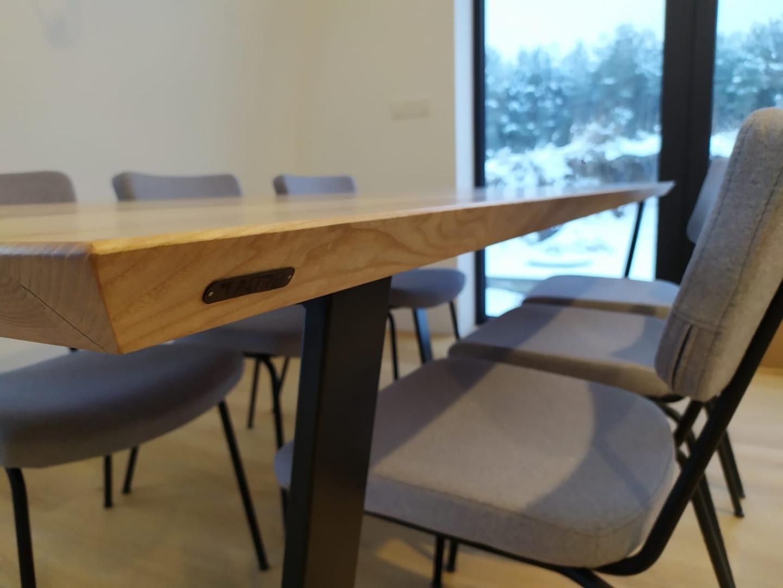 Stół z jesionowy blatem  #1