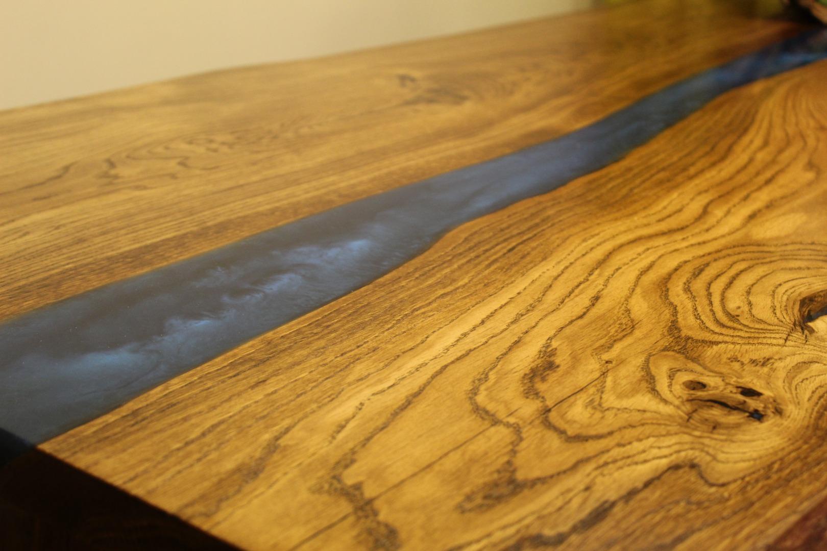 Dębowy stół rzeka  #3