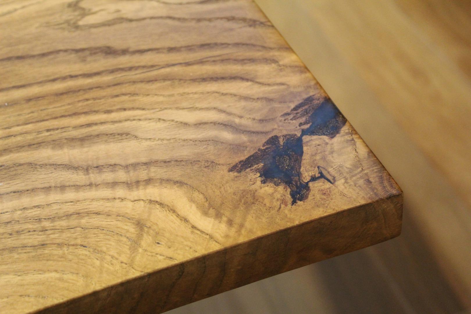 Dębowy stół rzeka  #6
