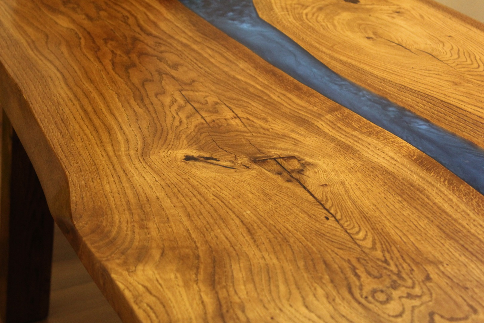 Dębowy stół rzeka  #4