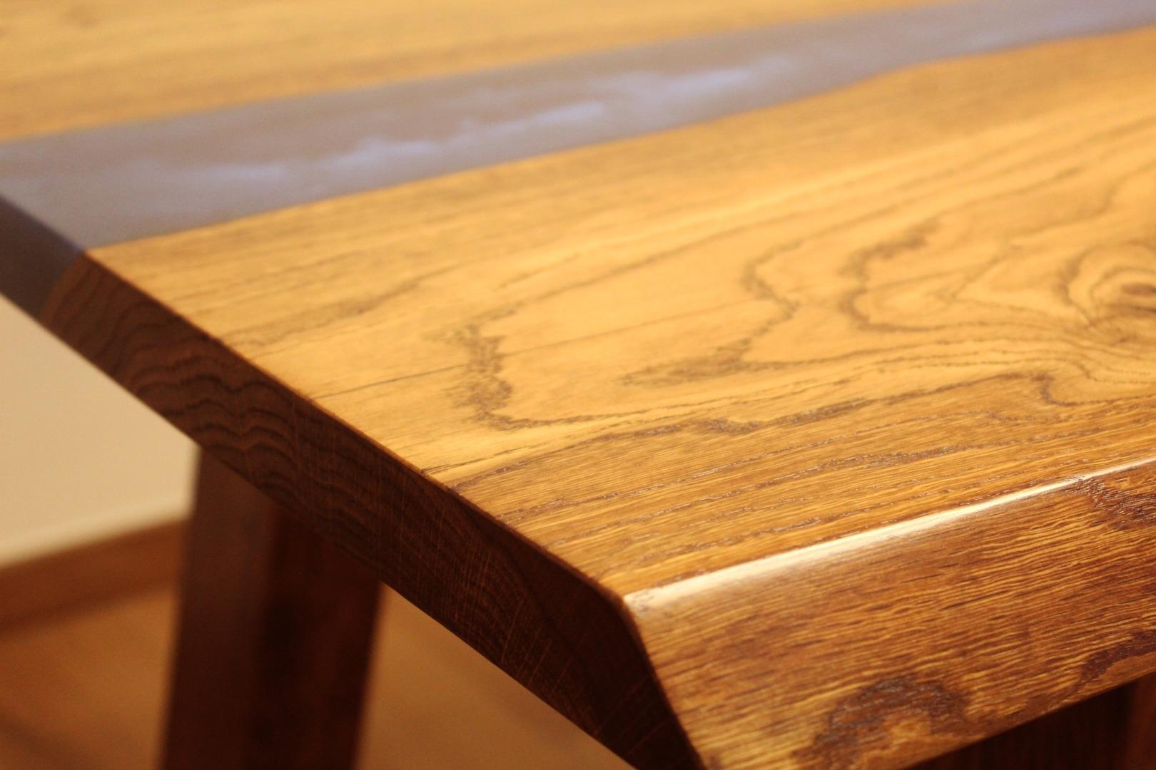 Dębowy stół rzeka  #7