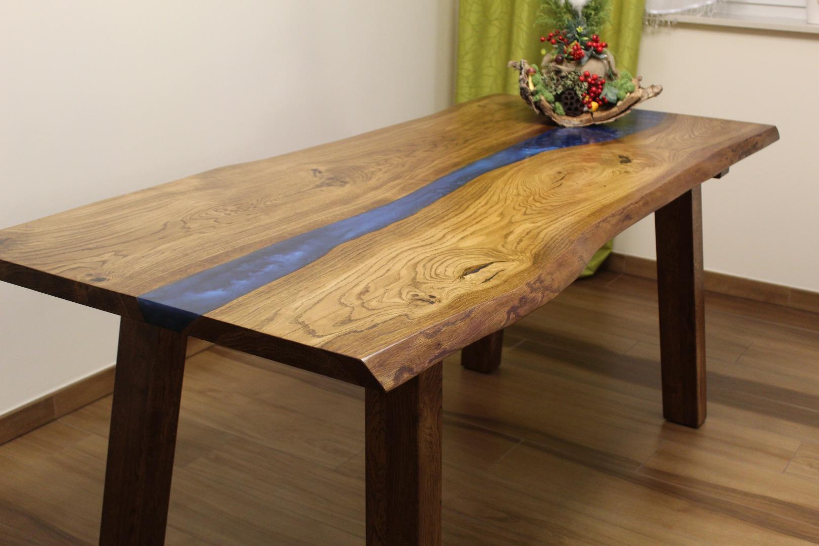 Dębowy stół rzeka  #1