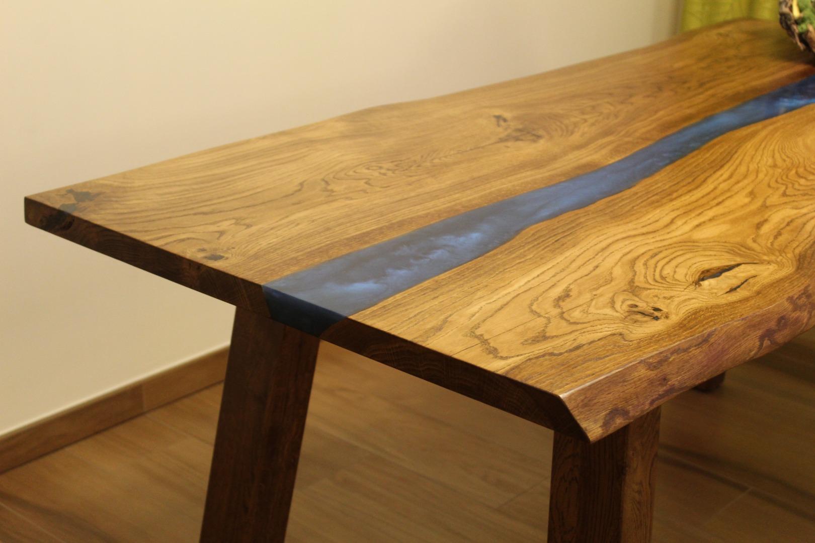 Dębowy stół rzeka  #5