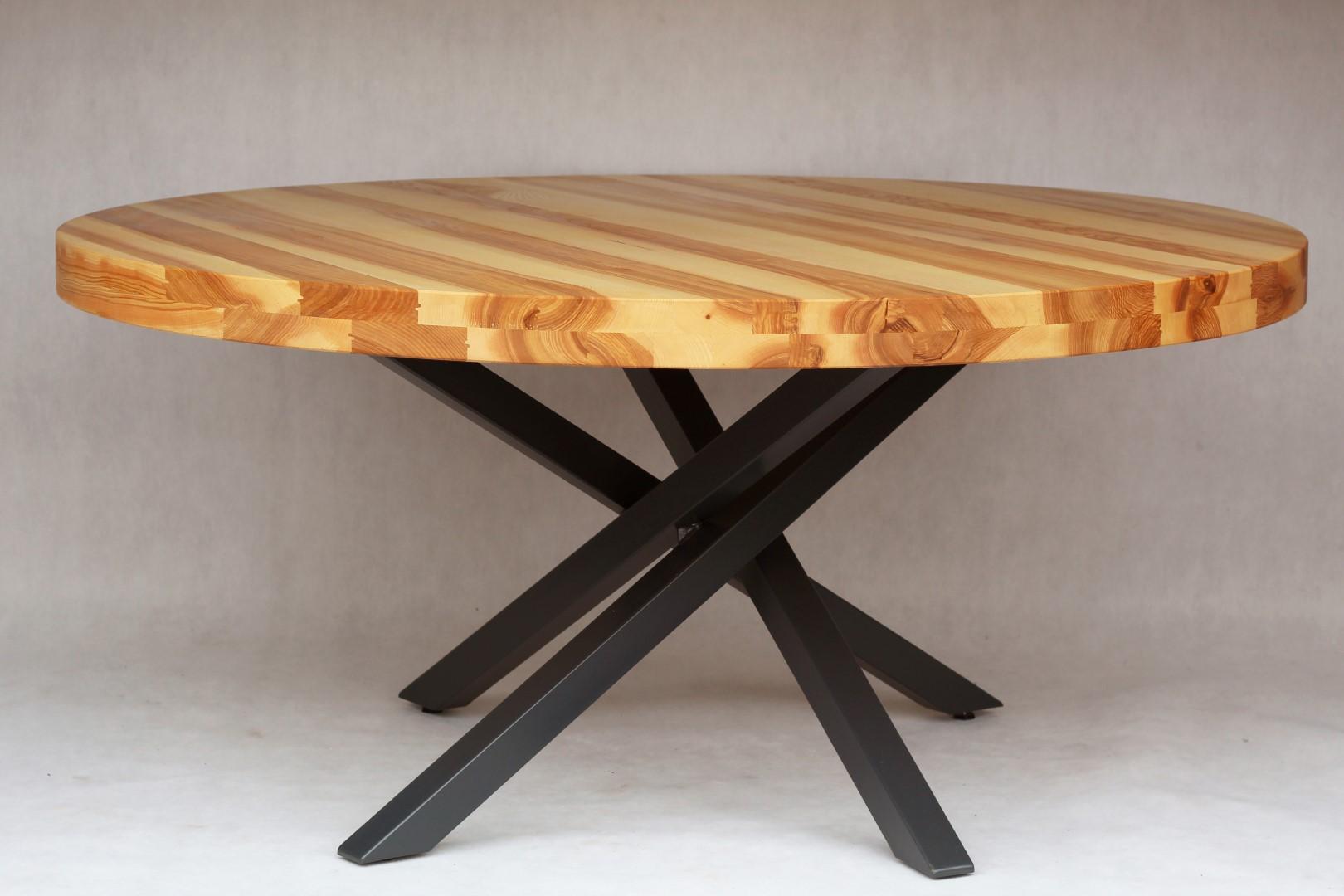 Okrągły, jesionowy stół #1