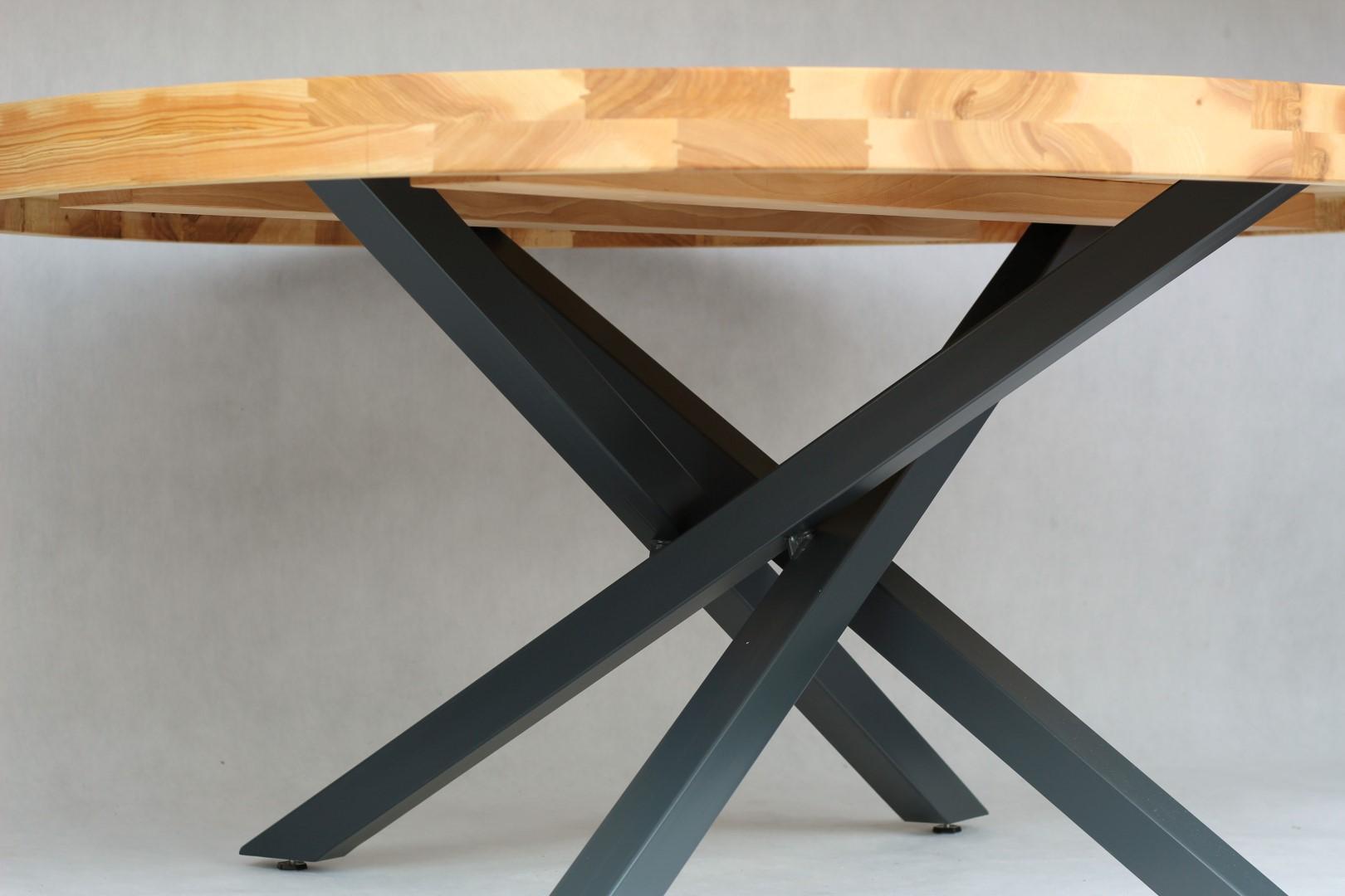 Okrągły, jesionowy stół #3