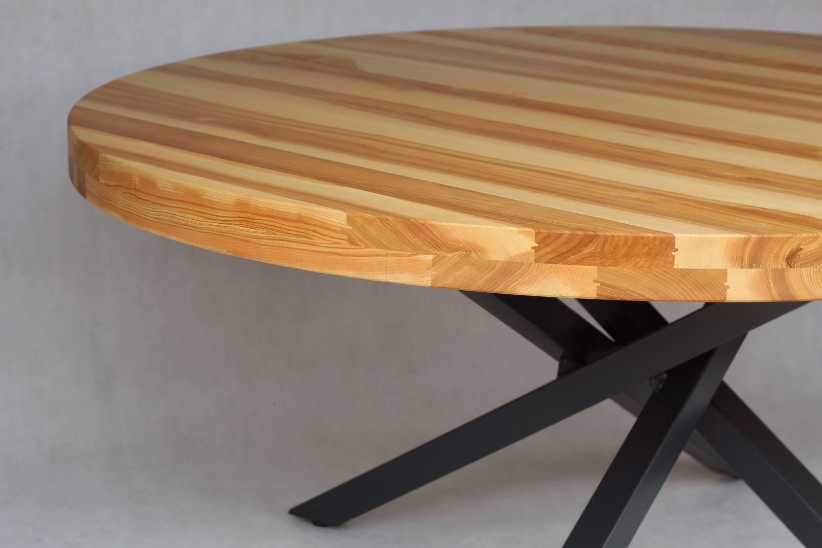 Okrągły, jesionowy stół #5
