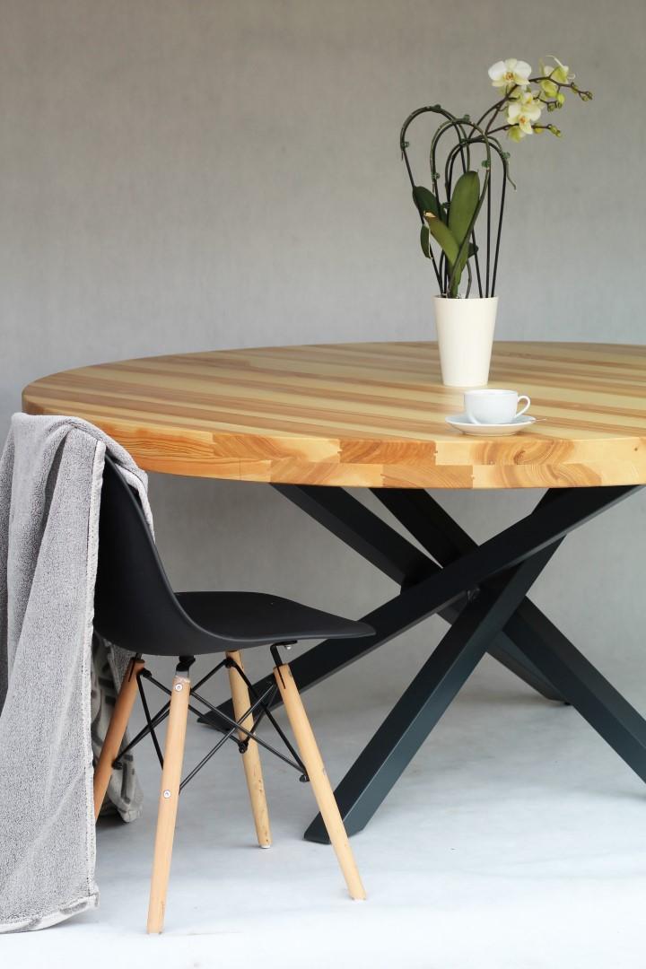 Okrągły, jesionowy stół #4