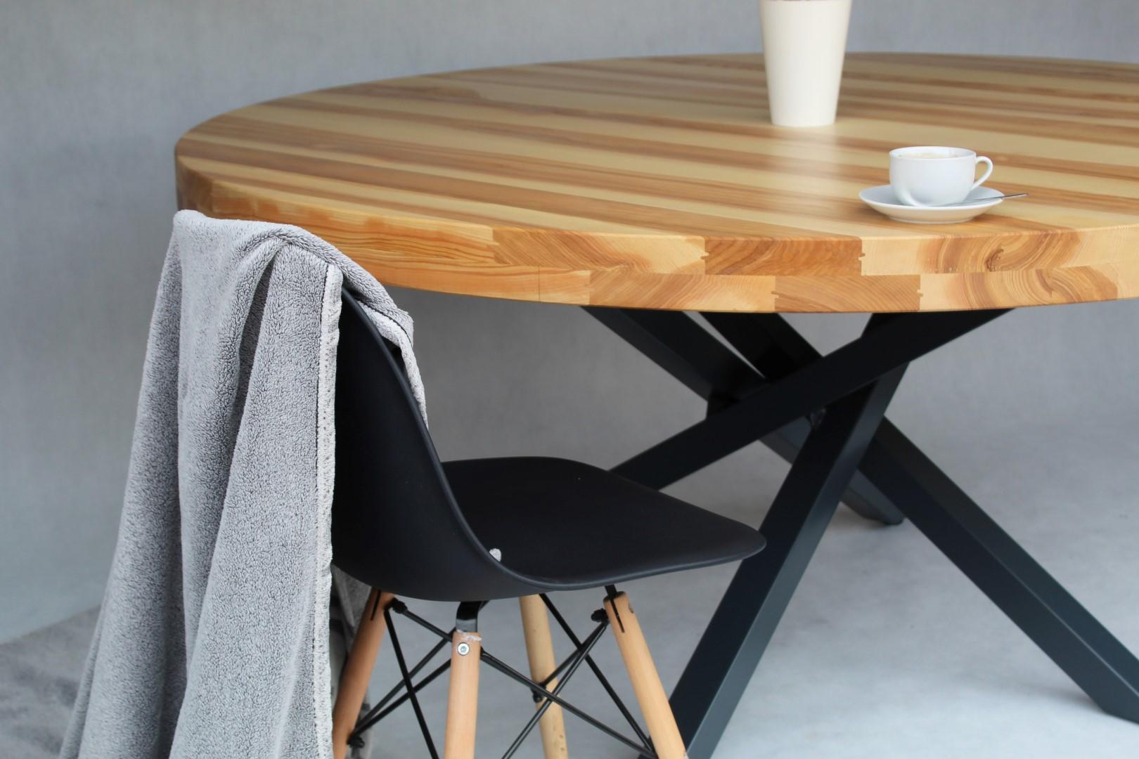 Okrągły, jesionowy stół #6