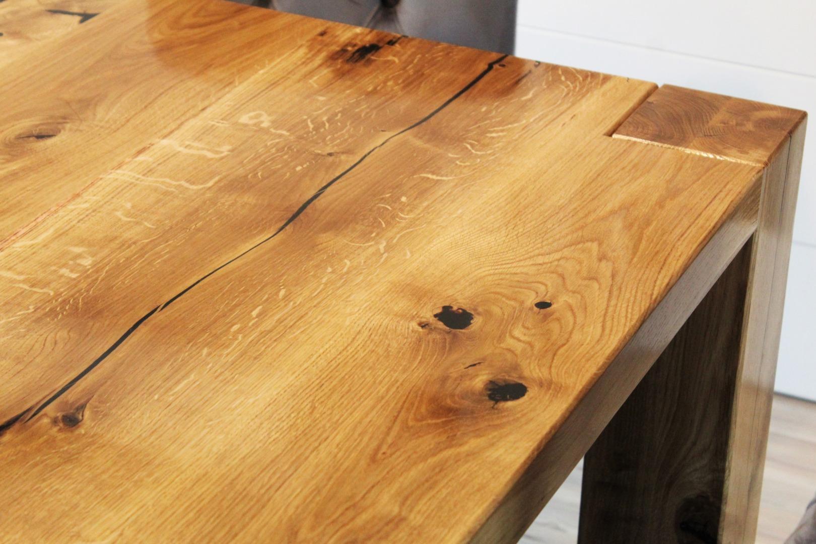 Ogromny rustykalny stół dębowy #1