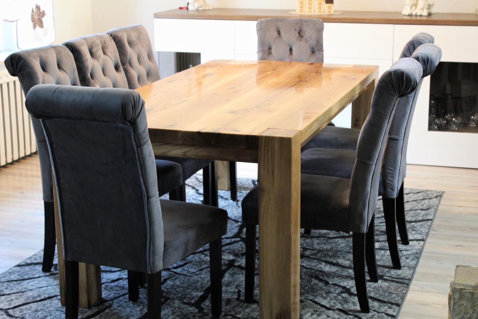 Ogromny rustykalny stół dębowy #7
