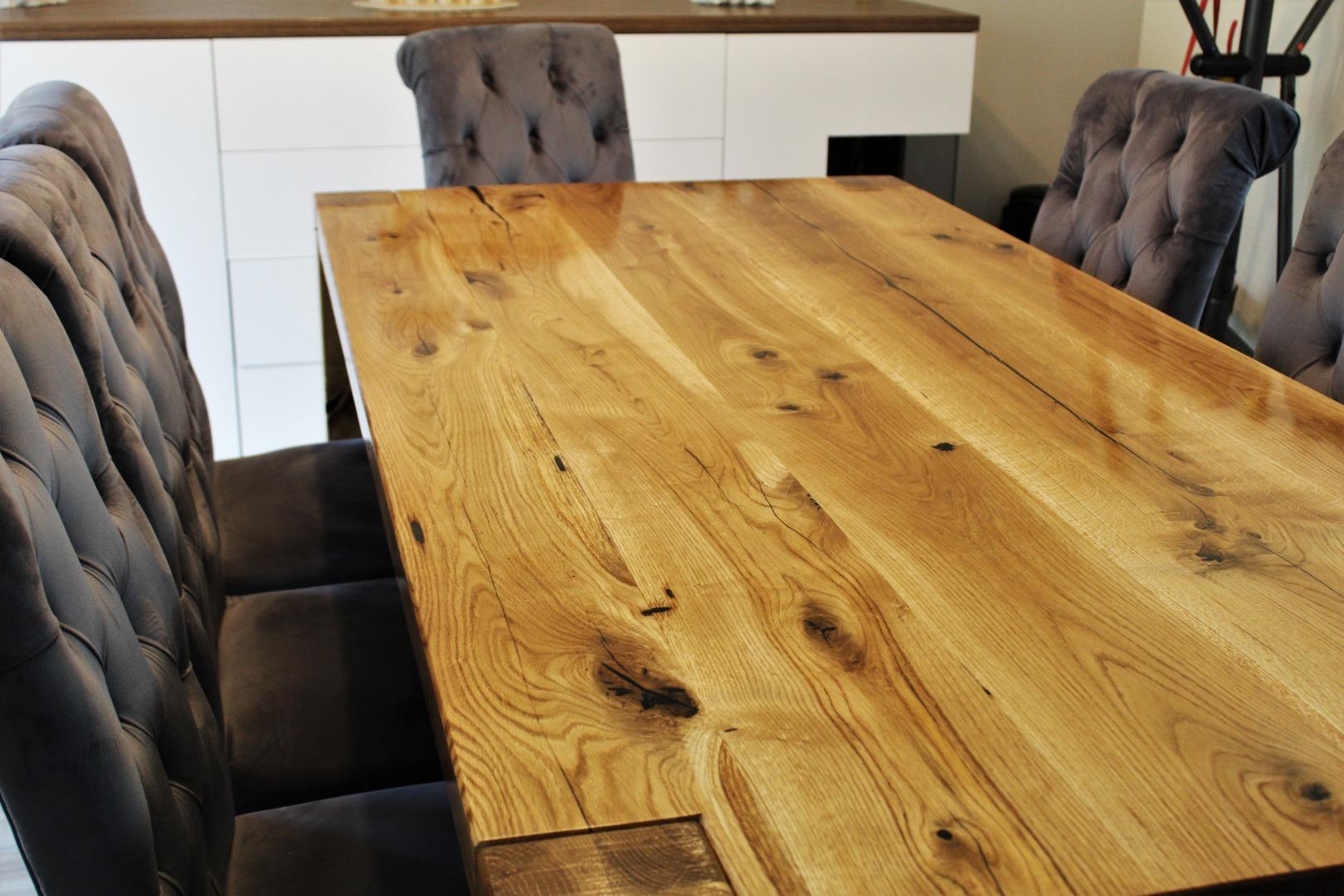 Ogromny rustykalny stół dębowy #2