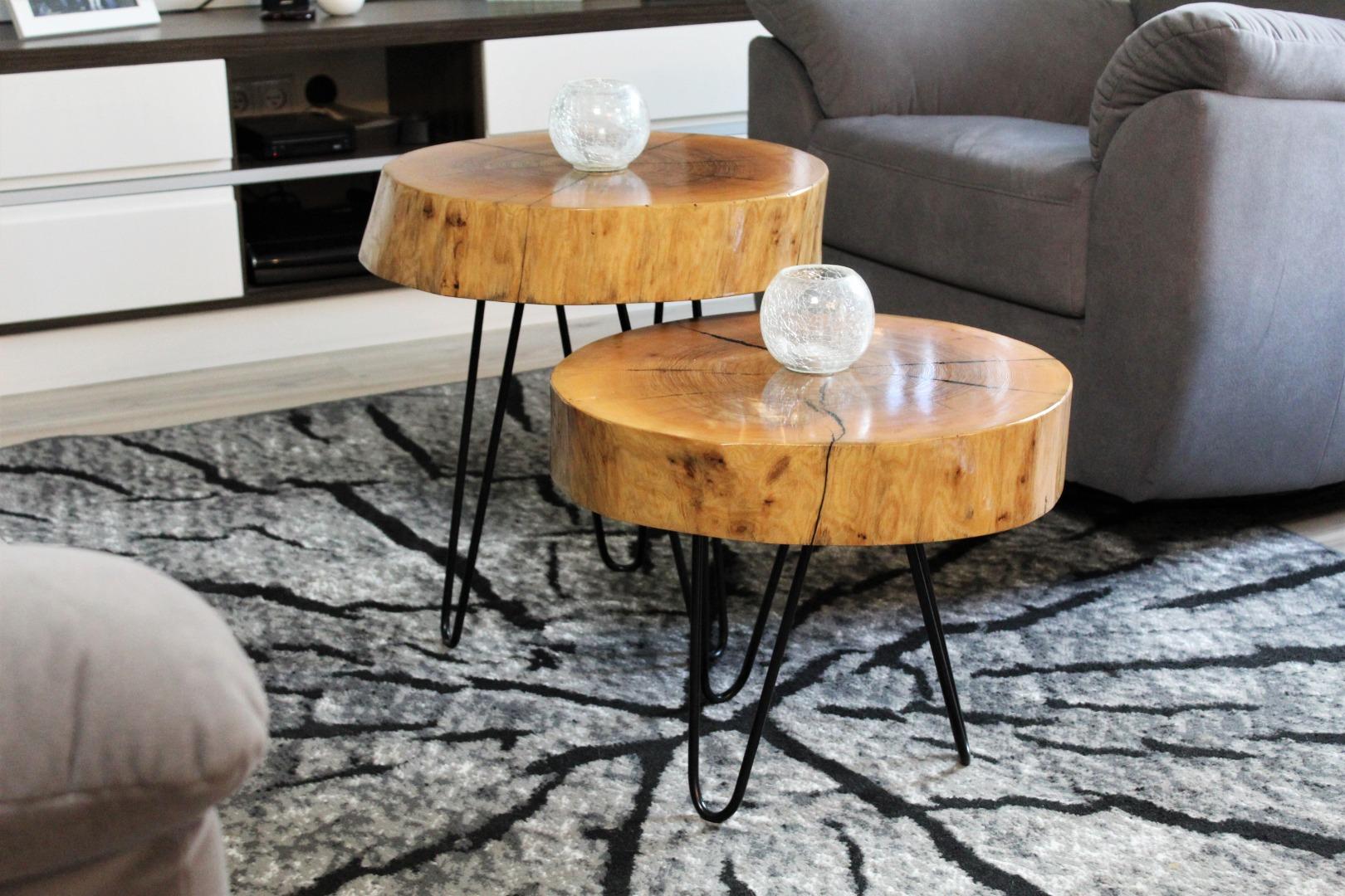 Komplet jesionowych stolików  #3