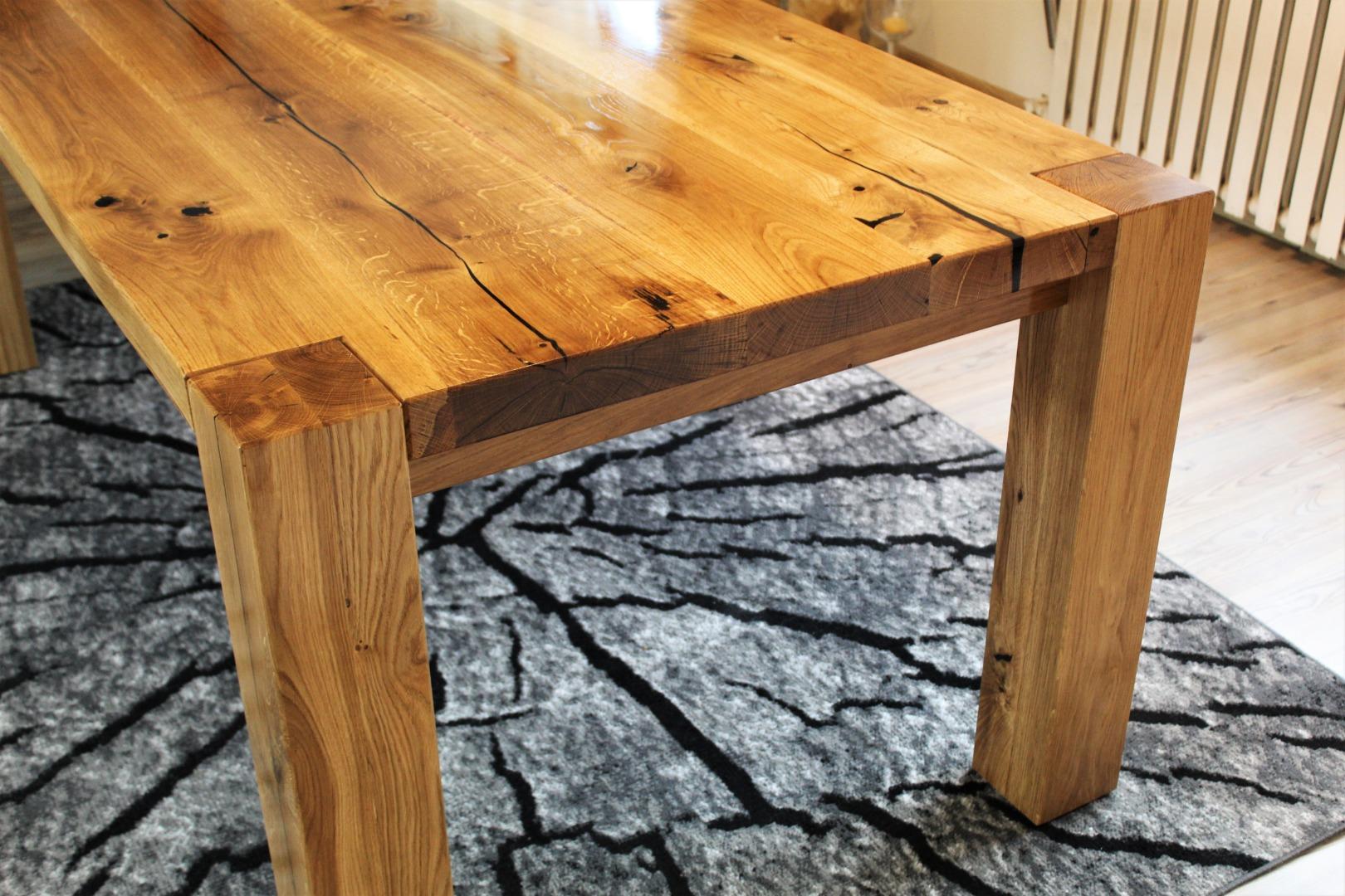 Ogromny rustykalny stół dębowy #3