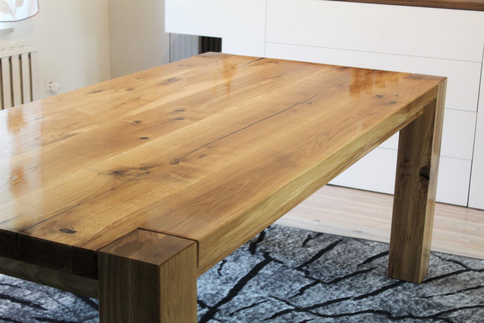 Ogromny rustykalny stół dębowy #4