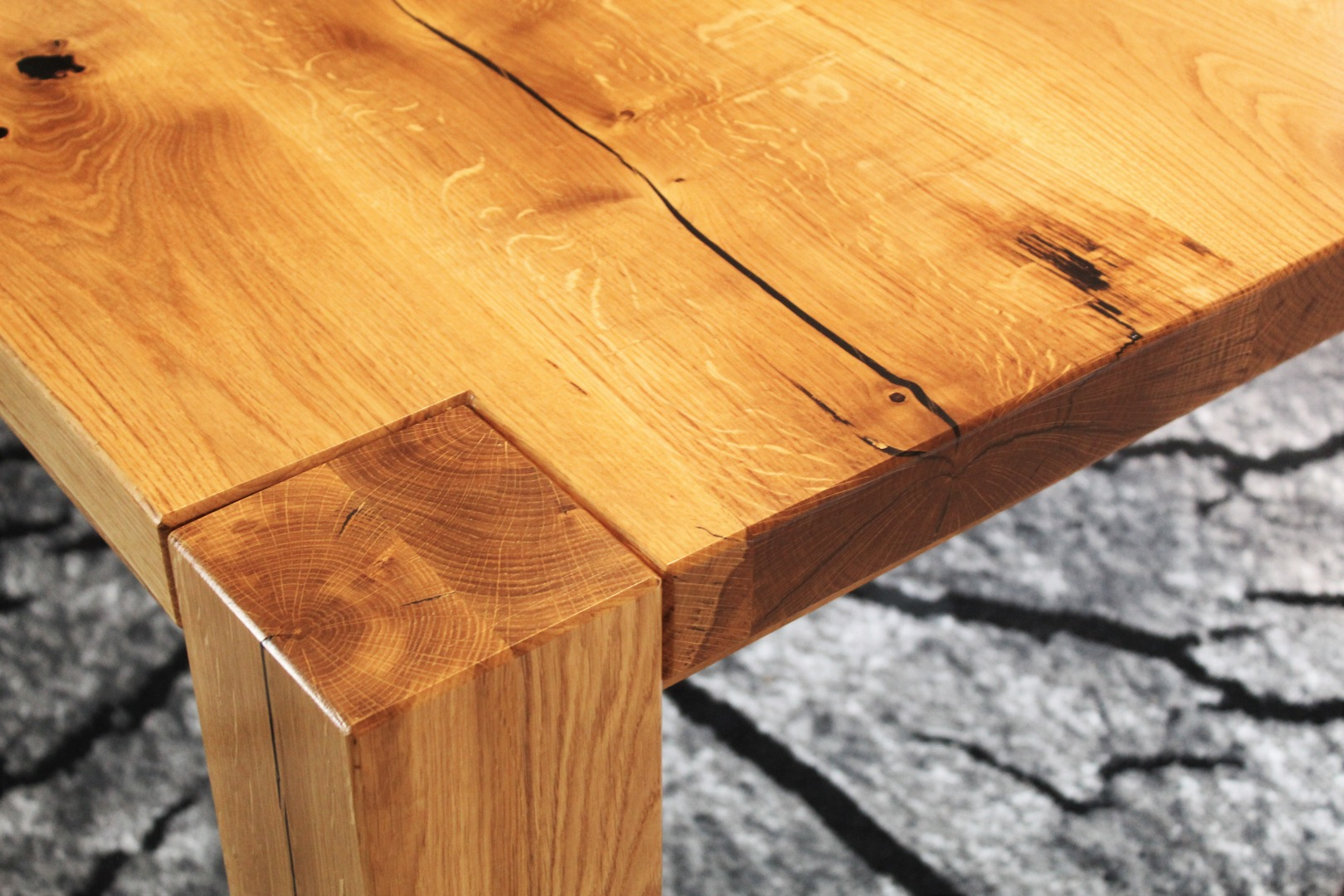 Ogromny rustykalny stół dębowy #5