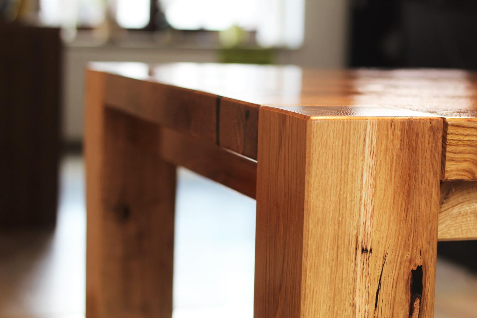 Ogromny rustykalny stół dębowy #6