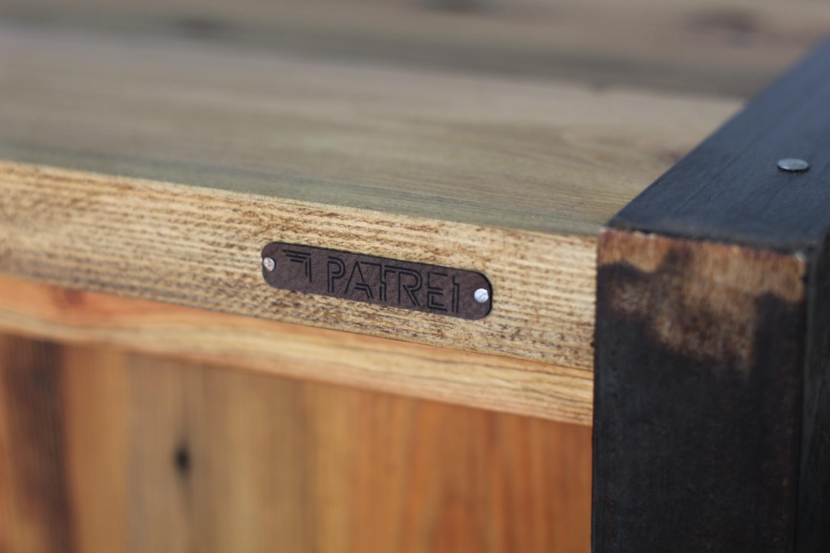 Szafka RTV z starego drewna #1