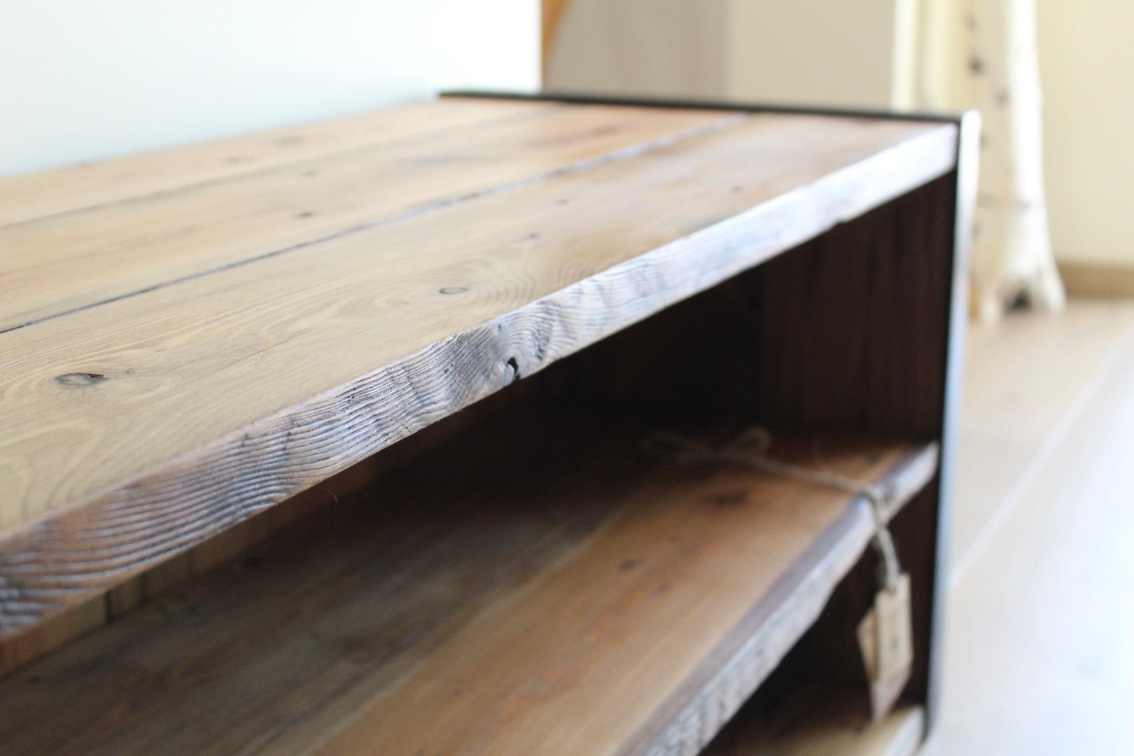 Szafka RTV z starego drewna #5