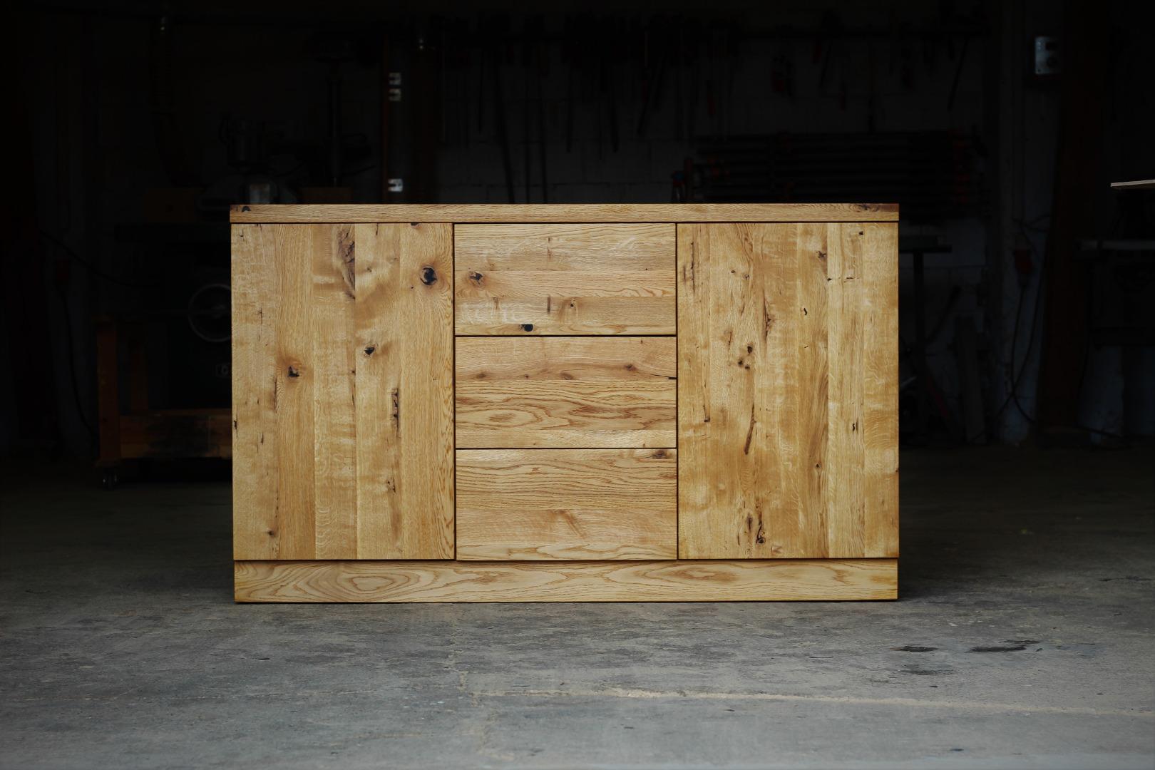 Naturalna komoda z litego drewna dębowego #1
