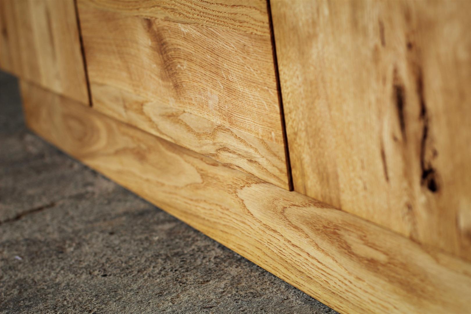 Naturalna komoda z litego drewna dębowego #4