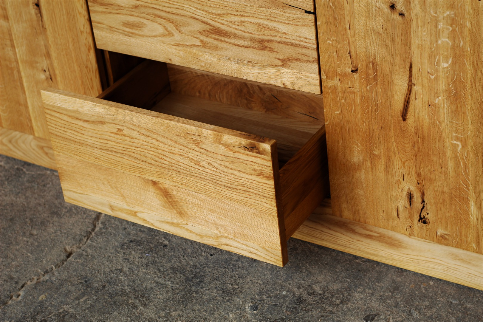 Naturalna komoda z litego drewna dębowego #3