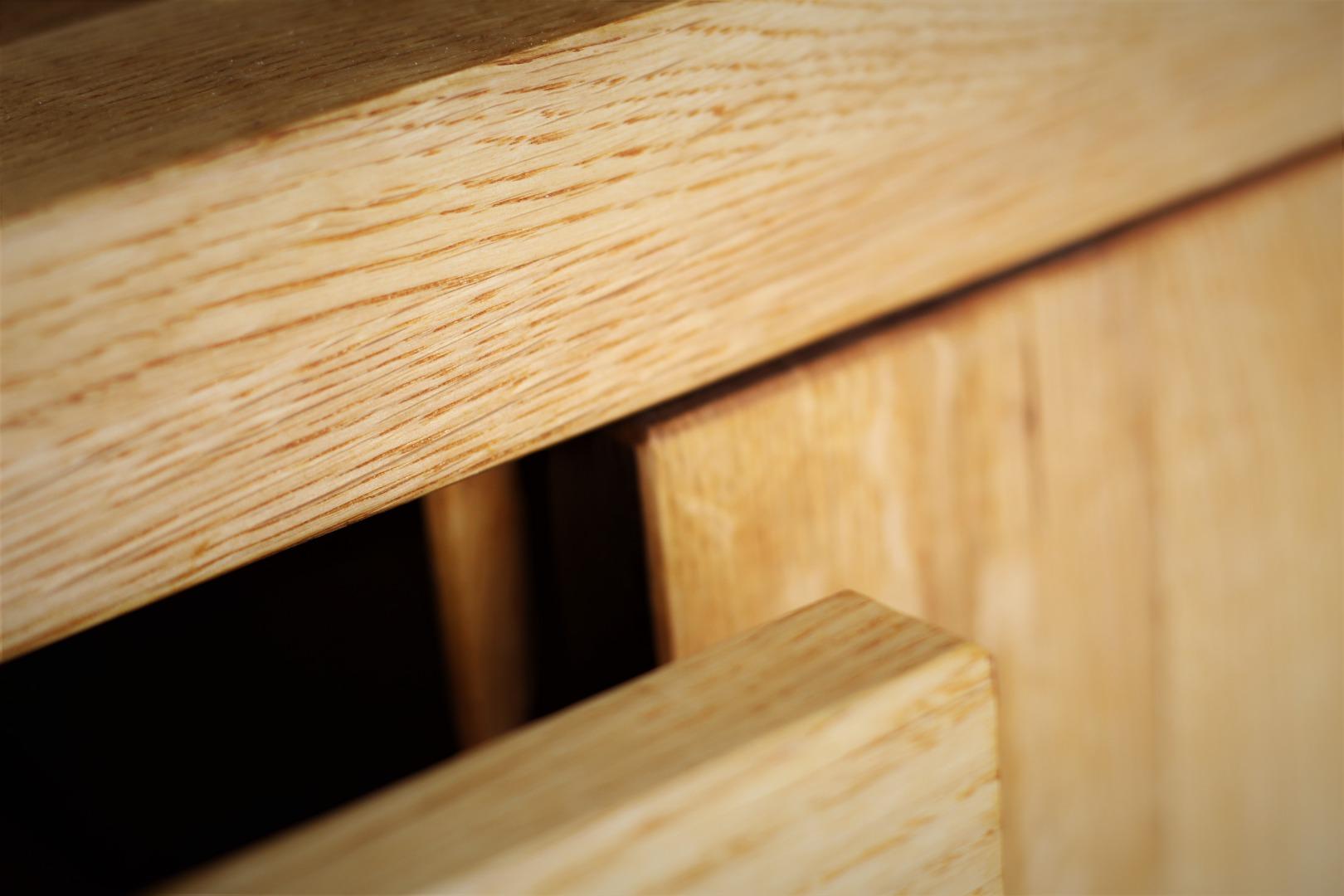 Naturalna komoda z litego drewna dębowego #5