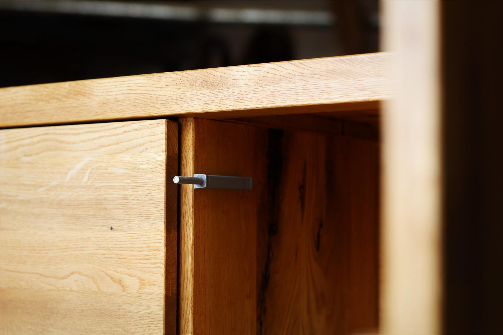 Naturalna komoda z litego drewna dębowego #8