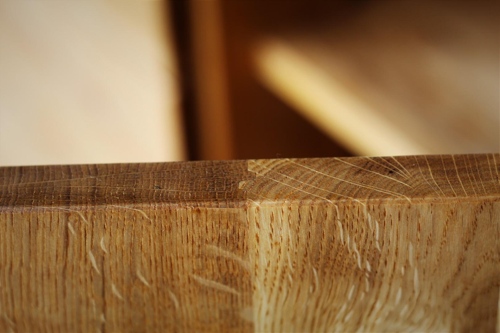 Naturalna komoda z litego drewna dębowego #9