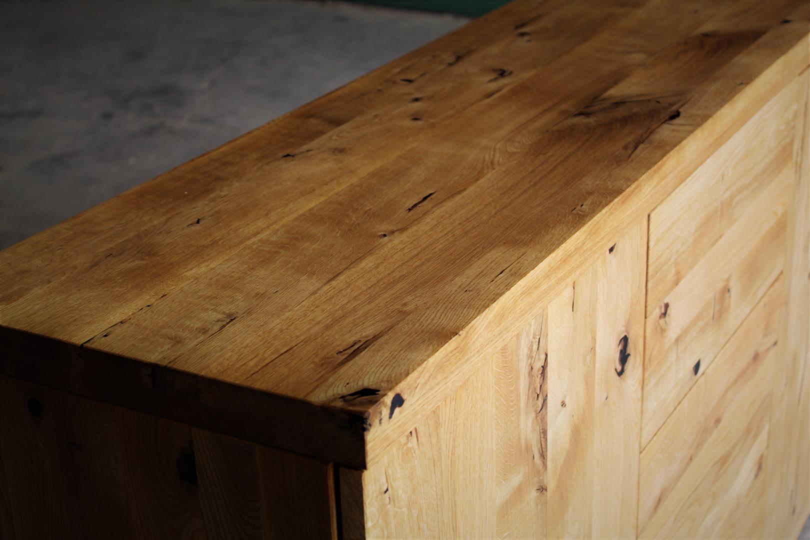 Naturalna komoda z litego drewna dębowego #6