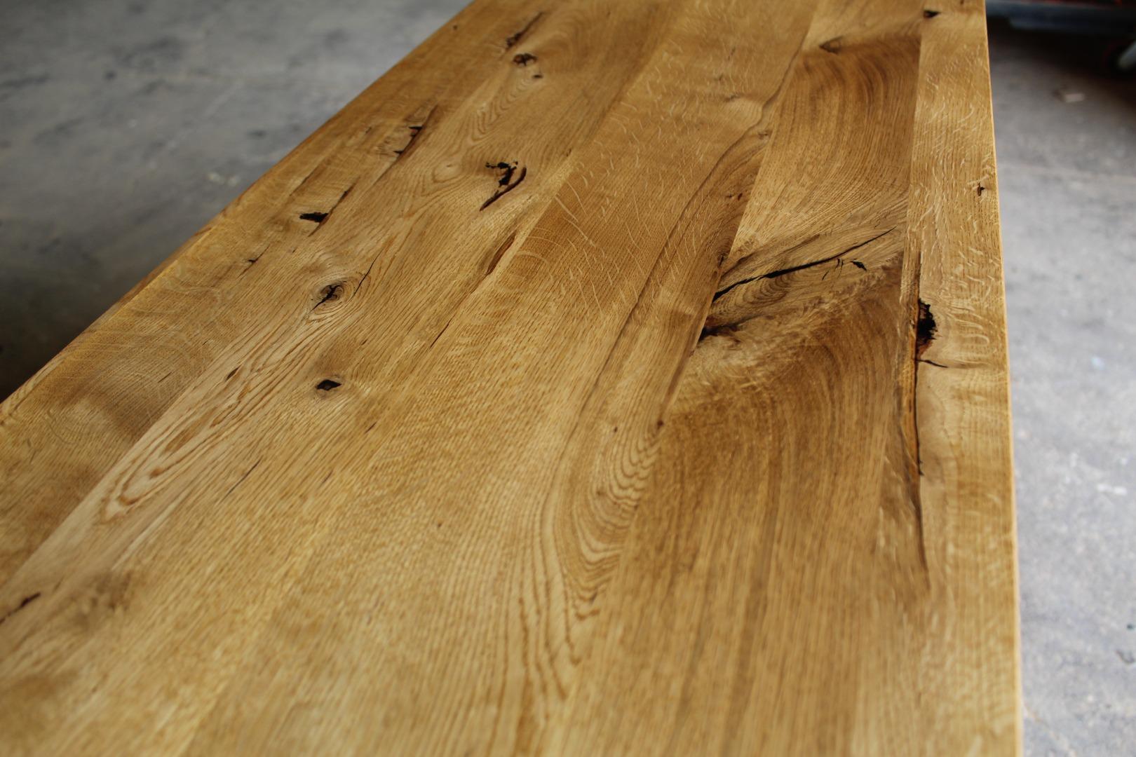 Naturalna komoda z litego drewna dębowego #10