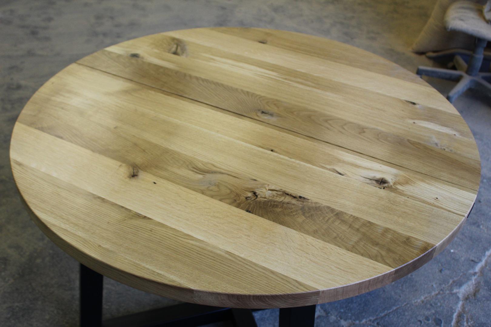Okrągły stół loftowy #4