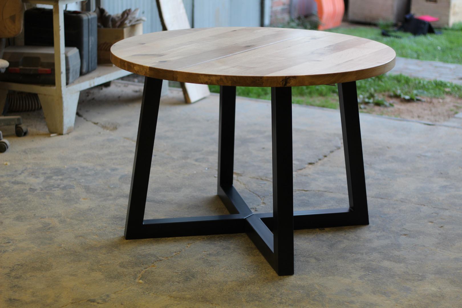 Okrągły stół loftowy #3
