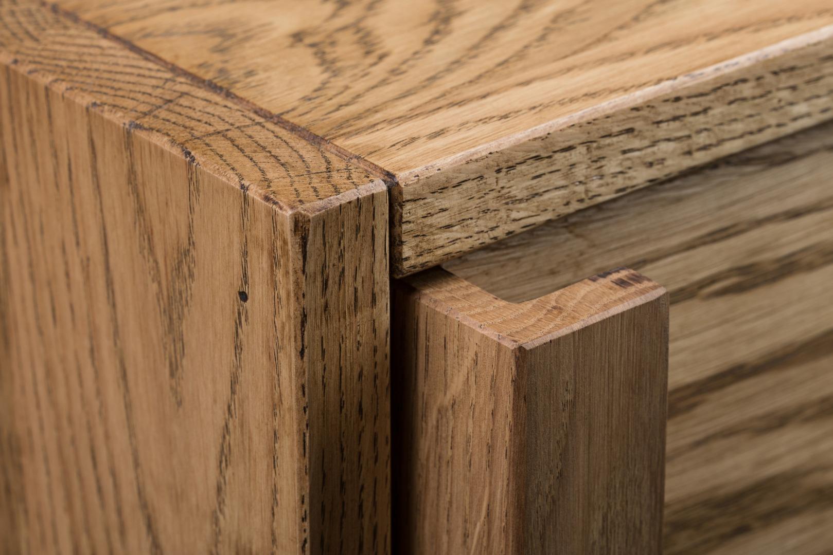 Smukła komoda z litego drewna K1 #4